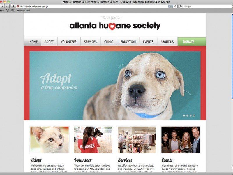 Atlanta Humane Society Website